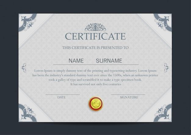 Luxury certificate template Vector | Free Download