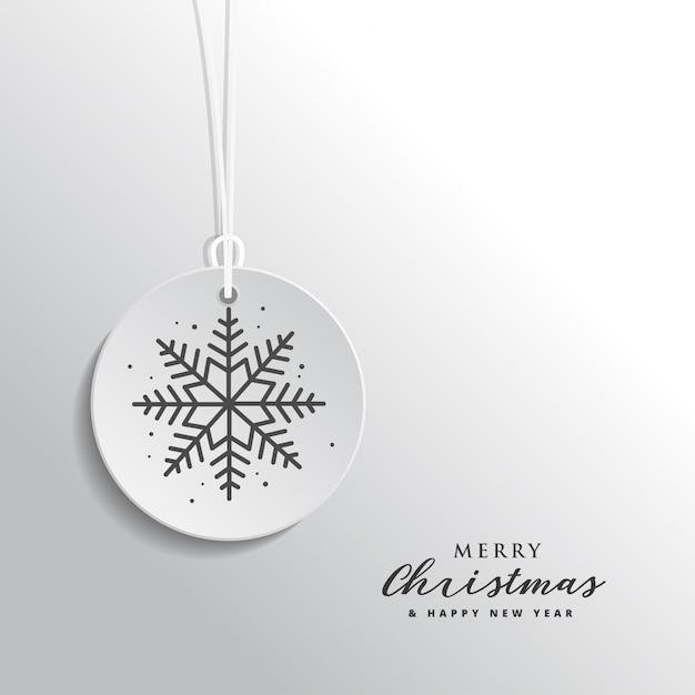 Luxury christmas and new year greeting card on white background Premium Vector