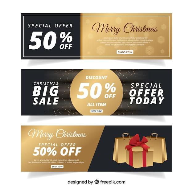 Luxury christmas sale banners