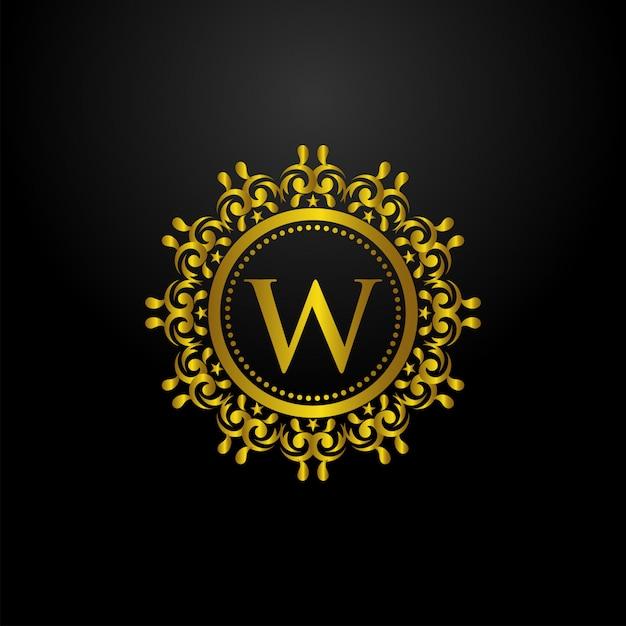 Luxury circle logo Premium векторы