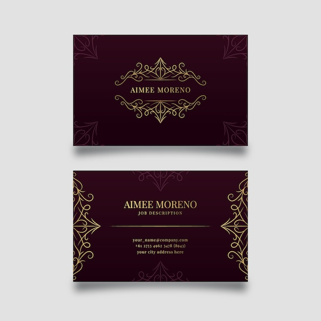 Luxury concept for business card template Free Vector