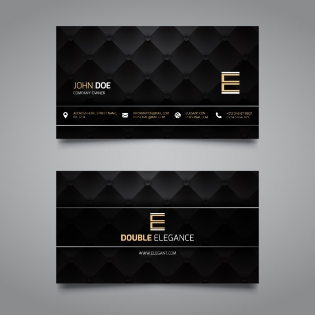 Luxury corporate card, dark color Free Vector