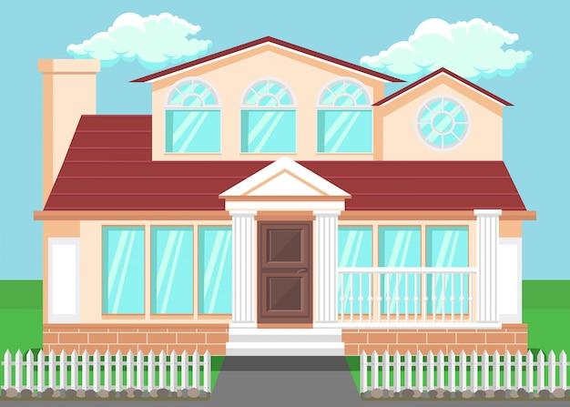 Luxury countryside house Premium Vector