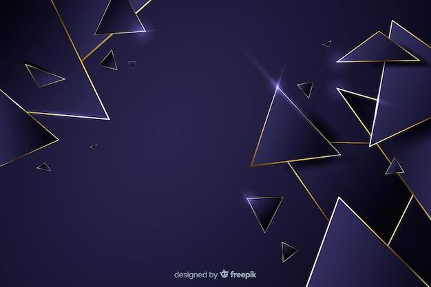 Luxury dark geometrical background Free Vector