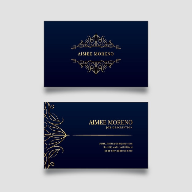 Luxury design for business card template Free Vector