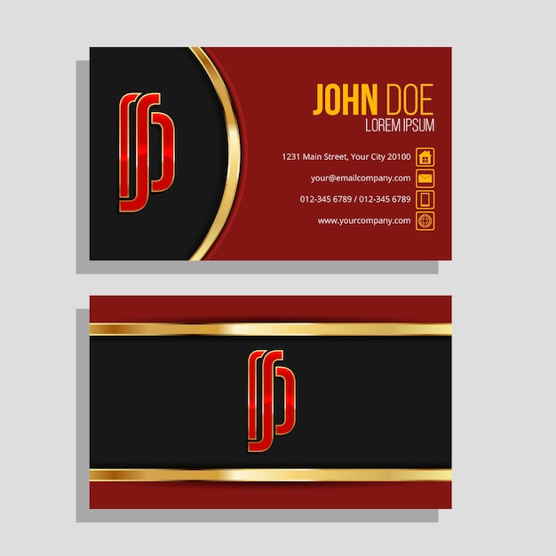 Luxury design for business card Free Vector