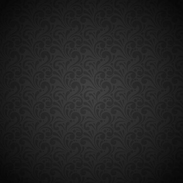 Luxury and elegant black seamless pattern Free Vector