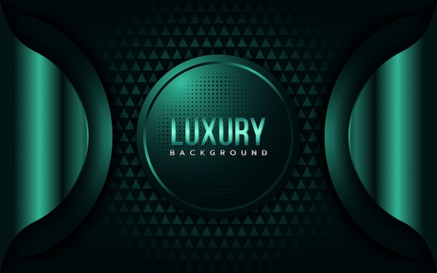 Luxury emerarld green background Premium Vector