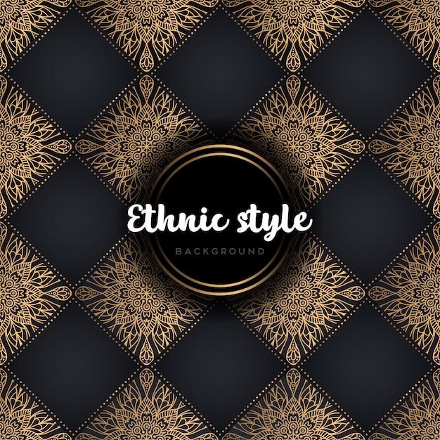 Luxury ethnic design seamless pattern Free Vector