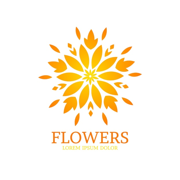 Luxury floral perfume logo collection Free Vector