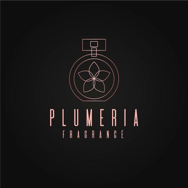 Luxury floral perfume logo design Premium Vector