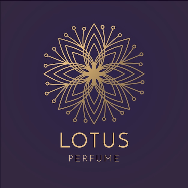Luxury floral perfume logo template Free Vector