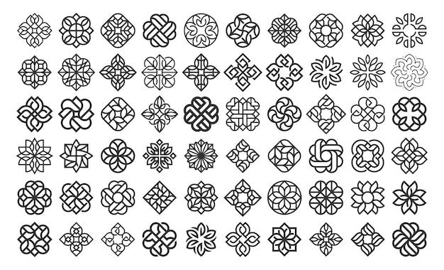 Шаблон дизайна логотипа luxury flower Premium векторы