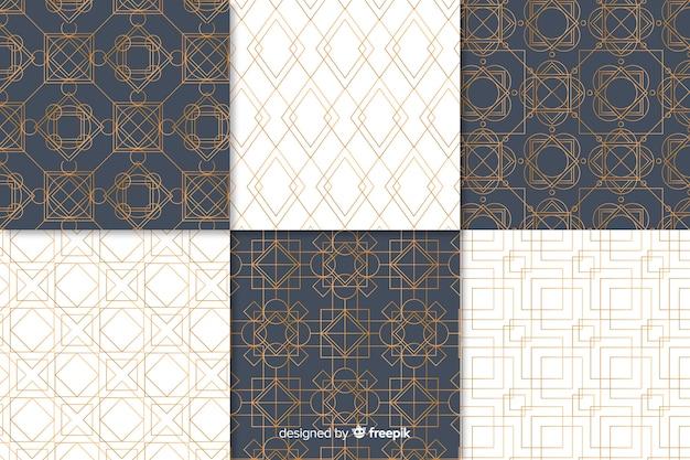 豪華な幾何学模様のコレクション 無料ベクター
