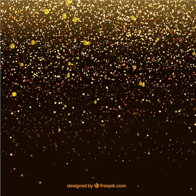 Luxury glitter particles background Free Vector