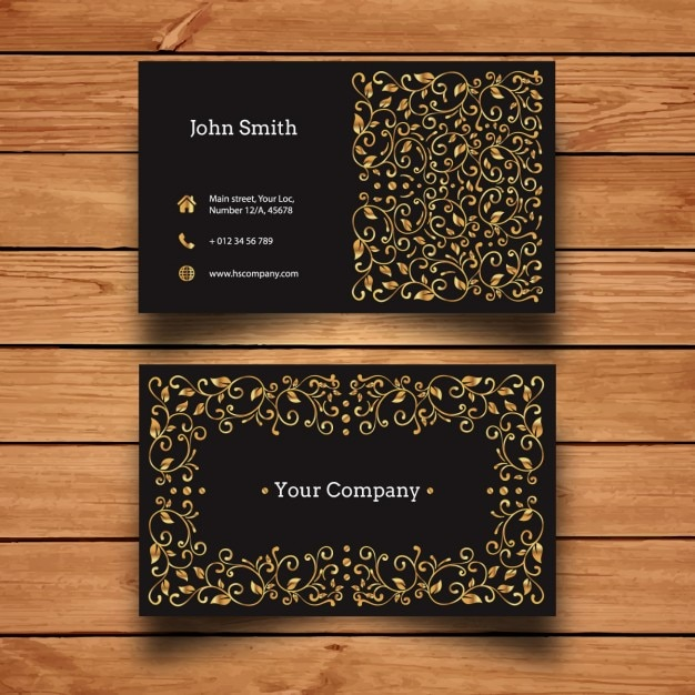 Luxury gold business card design vector free download luxury gold business card design free vector colourmoves