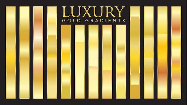 Роскошные золотые градиенты Premium векторы