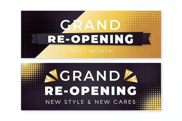 Banner di grande apertura di lusso in oro Vettore gratuito