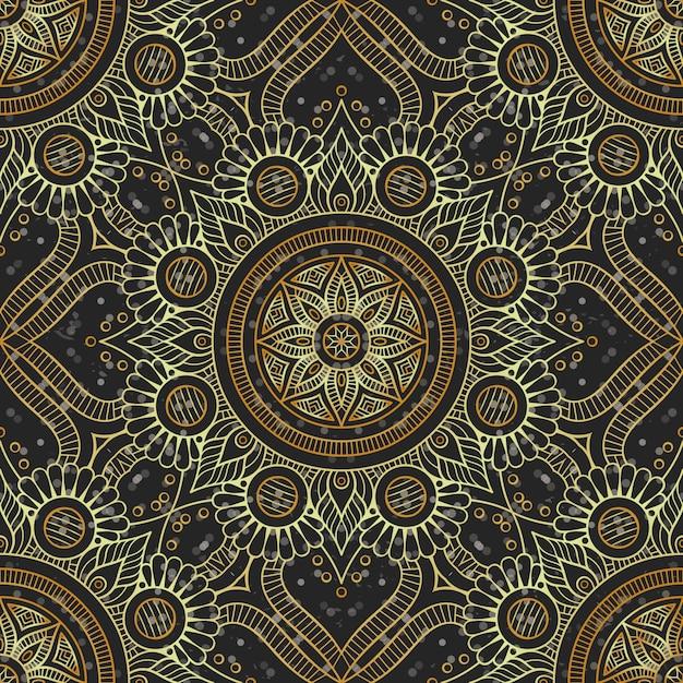 Luxury gold mandala pattern Premium Vector