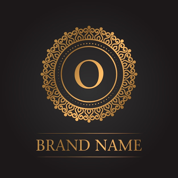 Luxury gold template monogram Free Vector