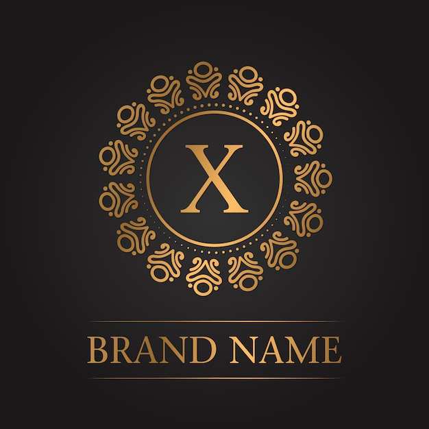 Luxury gold template monogram Free Vector