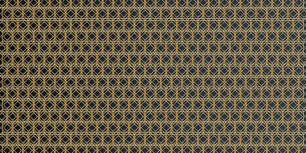 Роскошный золотой геометрический арабески бесшовные модели Premium векторы
