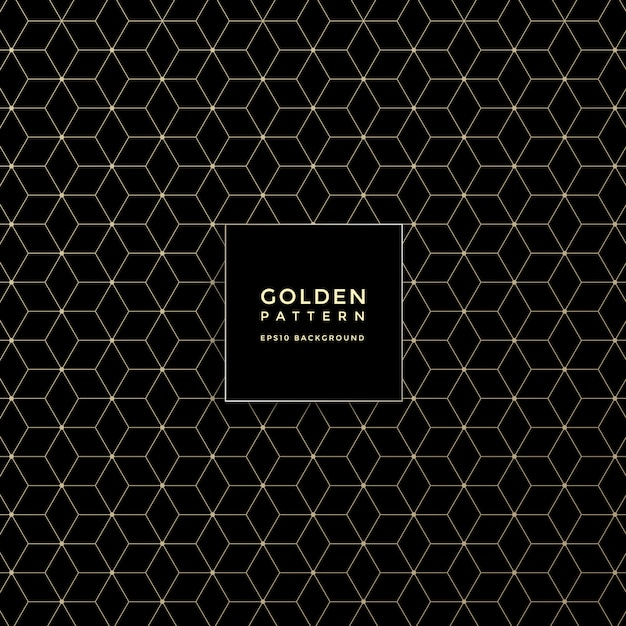 Luxury golden geometric pattern, abstract pattern background Premium Vector