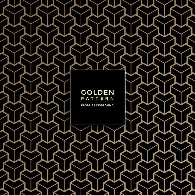 Luxury golden geometric pattern, abstract pattern background Premium Vector