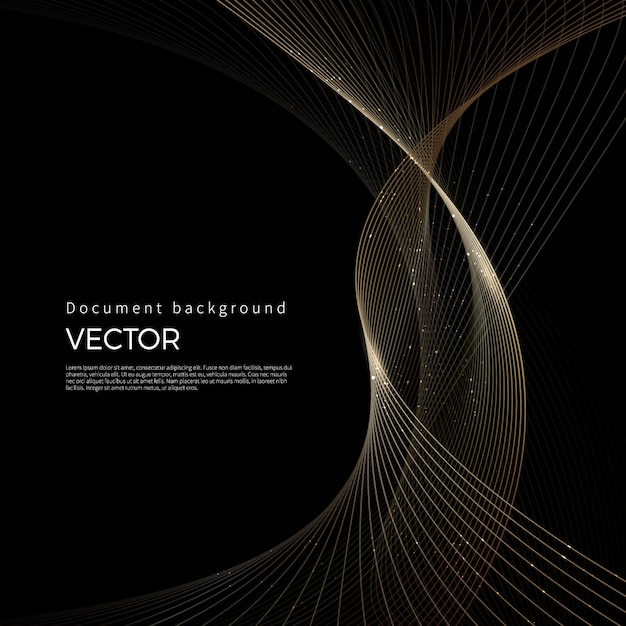 Luxury golden lines, abstract line background Premium Vector