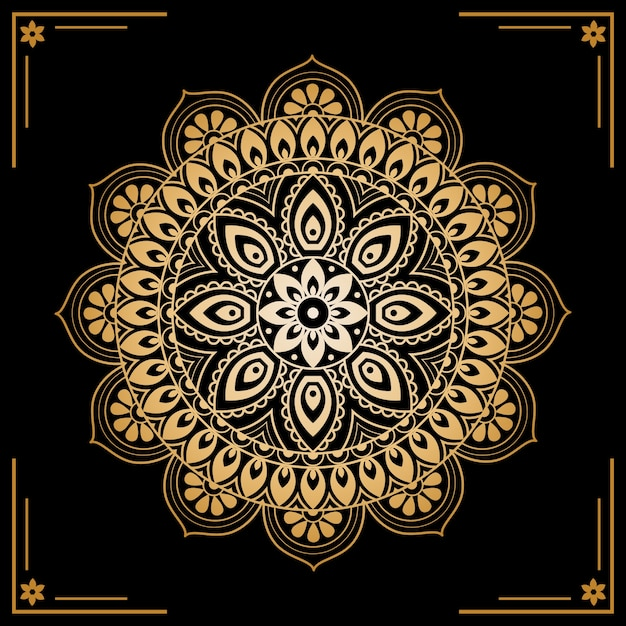 Luxury golden mandala screensaver Free Vector