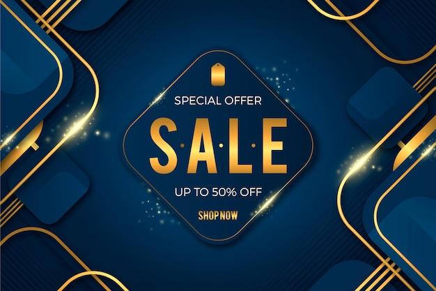 Роскошный золотой фон продажи Бесплатные векторы