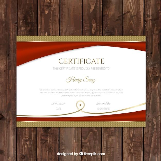 luxury graduation certificate template vector free download