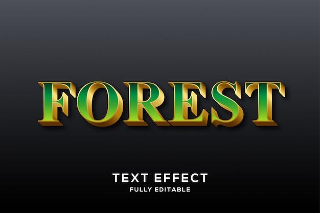 Luxury green & gold text effect Premium Vector