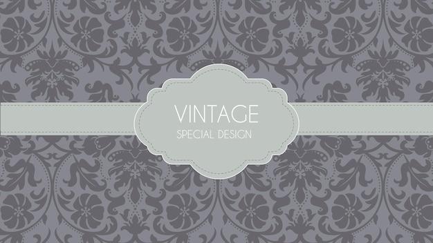 豪華な灰色のレトロな装飾用の背景 無料ベクター