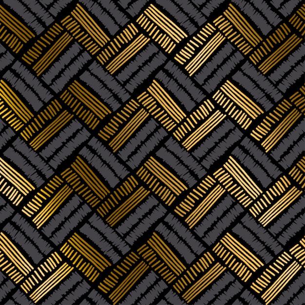 Luxury hand drawn seamless pattern Premium Vector