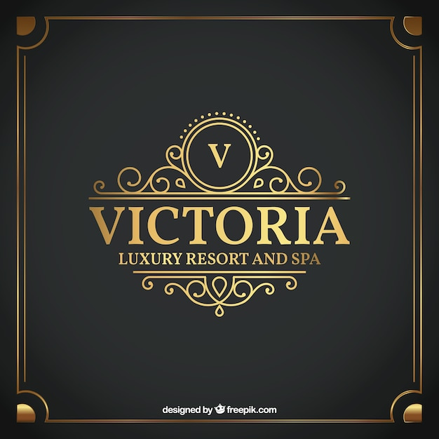 Luxury Hotel Label Free Vector