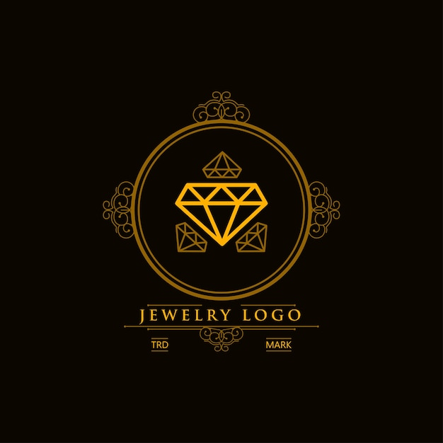 Luxury Jewelry Logo Design Premium Vector