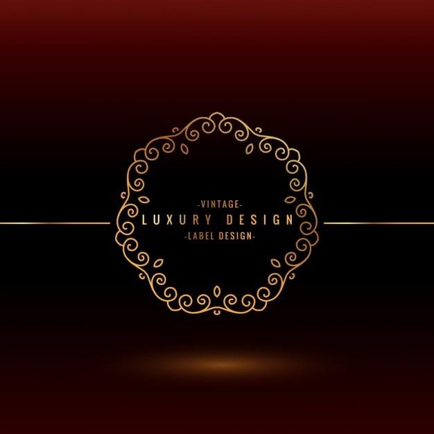 Luxury label design Vector | Free Download