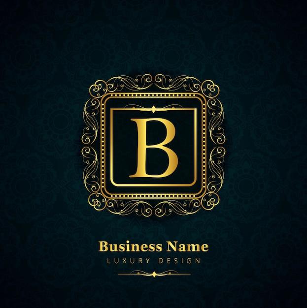 Luxury letter b logo vector free download for B b com