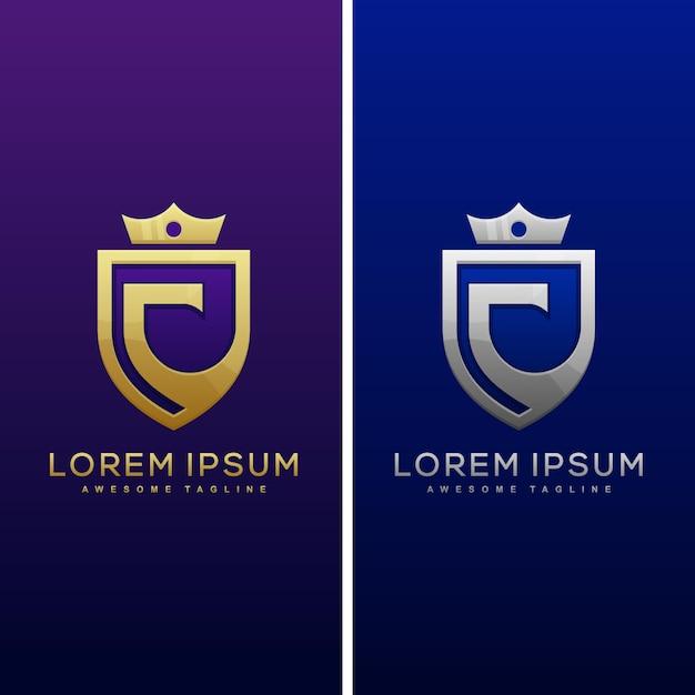 Luxury letter c concept illustration vector design template Premium Vector