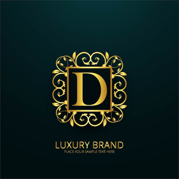 Luxury Letter D Logo Free Vector