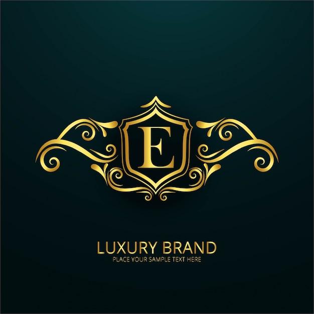 Luxury Letter E Logo Free Vector