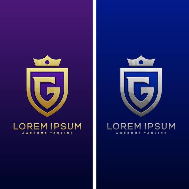Шаблон логотипа luxury letter g Premium векторы