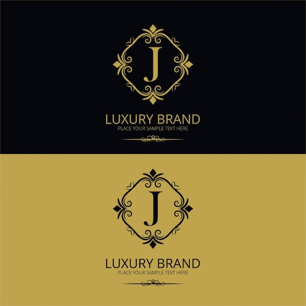Luxury letter j logo