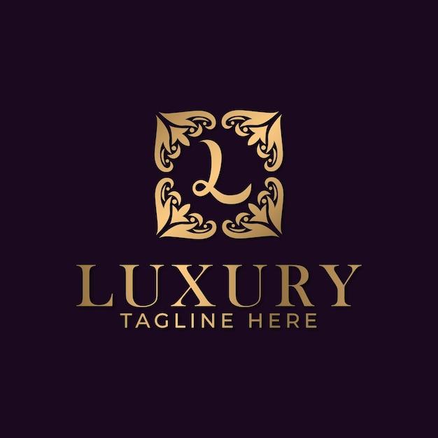 スパとマッサージビジネス業界向けの曼荼羅と金色の装飾ロゴデザインテンプレートが付いた豪華な文字l Premiumベクター