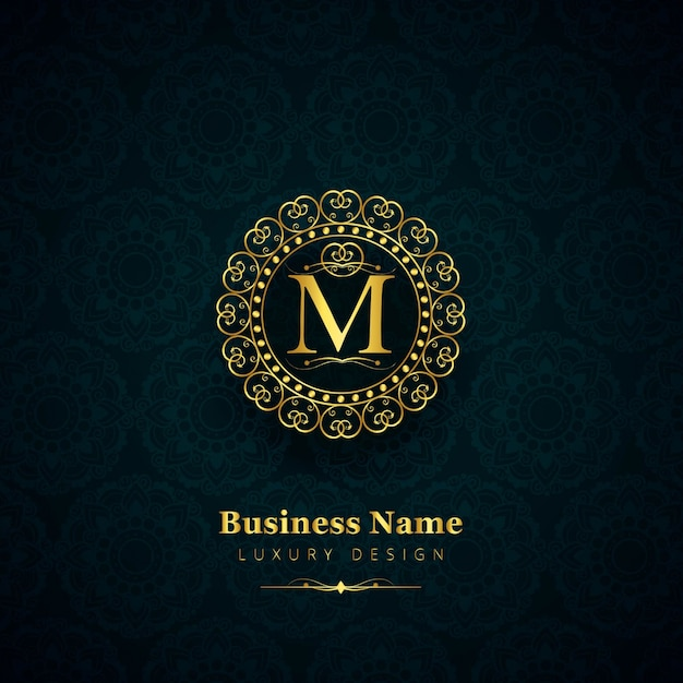 Luxury Letter M Logo Vector Free Download