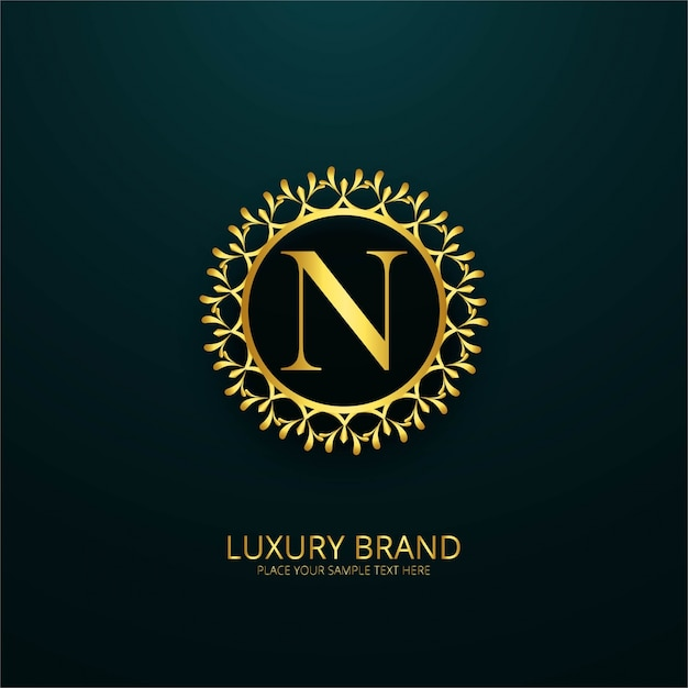 luxury letter n logo vector free download