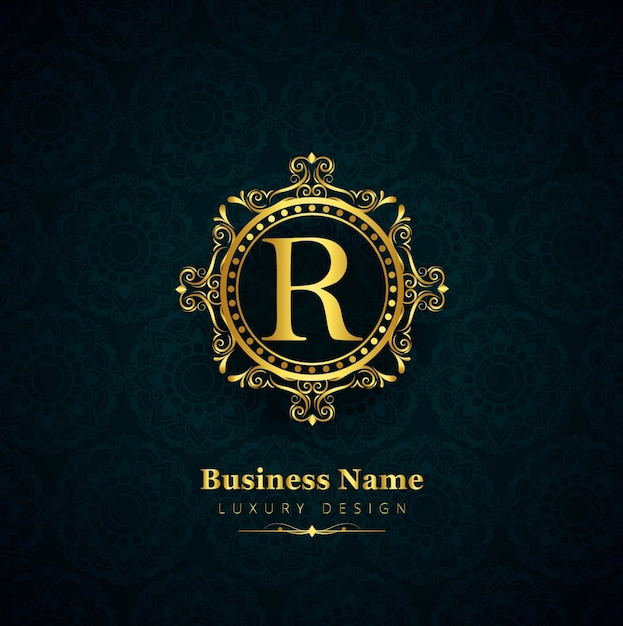 luxury letter r logo vector free download