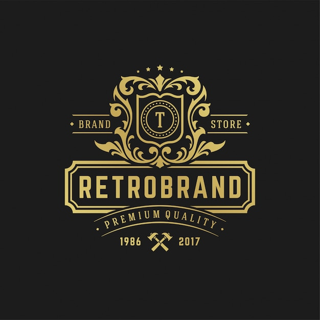 Luxury letter t logo design template vector illustration. Premium Vector