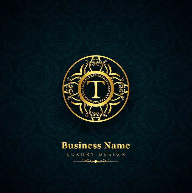 Luxury letter t logo Free Vector